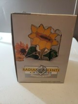 Radiant Accents SUNFLOWER VOTIVE CANDLE HOLDER NEW in box NOS - €29,40 EUR