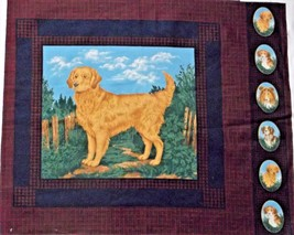 """Hunting Dog Setter Quilting Crafting Sewing Pillow Panel  15"""" x 15.5"""" - $5.20"""