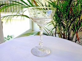 Libbey Rock Sharpe Artic Rose Clear Champagne Glass - $14.85