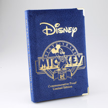 "1987 Mickey Mouse "" et Walt "" .999 Fin Silver 1 Oz. Round Eau / Coffret & - $99.08"