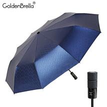 GoldenBrella® Big Wheel Handle Umbrella For Men Quality Strong Wind - $43.63