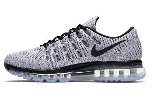 Nike Air Max 2016 Mens Sz 7.5 806771 001 Black WhiteDark