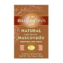 Billington's Natural Light Brown Muscovado Sugar, 1 LB Pack of 10 - $32.84