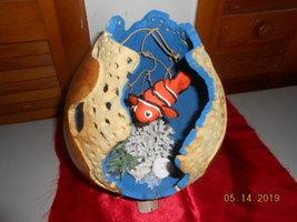 undersea carved gourd - $20.00