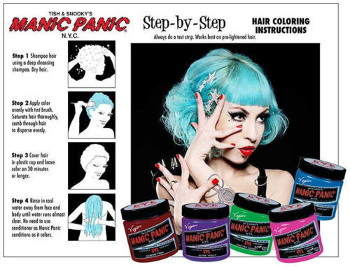 MANIC PANIC CLASSIC SEMI-PERMANENT VEGAN HAIR COLOR DYE 4 OZ- PICK YOUR COLOR for sale  USA