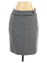 Ann Taylor Tweed Blue Black Straight Pencil Wrap Skirt Button Career Siz... - $23.76