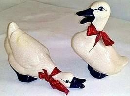 White Ceramic Ducks AB 247 Vintage