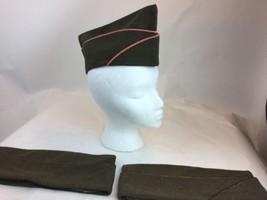 US WW2 Army Ordnance Wool Gaberdine Garrison Overseas Cap Hat Sz 6 3/4 - $46.74