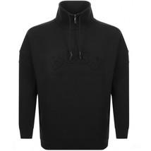 Hugo Boss Relaxed-fit Sweater Sweatshirt Jacket Curved Logo Drawstring Collar image 1