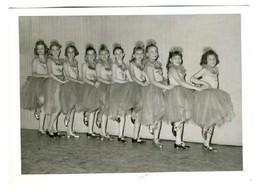 1950's Dance Recital Photo 5 x 7 Girl Tap Dancers in a Line  - $13.86