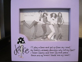 "Demdaco Brand ""Dance"" picture frame 4x6 Lavender friends celebrate gifts... - $13.00"