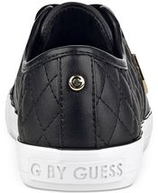 G by Guess Women's Backer2 Lace Up Leather Quilted Pattern Sneakers Shoes Black image 3