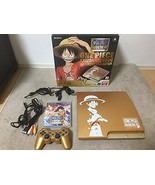 One Piece PlayStation 3 Console Japan Gold Limited Edition EXCELLENT Rare - $289.98
