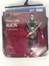 Skull Lord Ninja Costume Halloween Purim Dress Up Boys Size Small 6 Fun World - $15.97