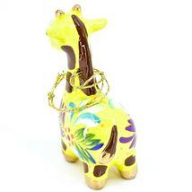 Handcrafted Painted Ceramic Yellow Giraffe Confetti Ornament Made in Peru image 4