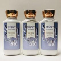 3 Bath & Body Works Snowy Morning Super Smooth Body Lotion 8 fl.oz New - $29.69