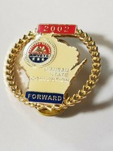 WISCONSIN AMVETS 2002 WAUSAU STATE CONVENTION FORWARD Lapel Pin image 1