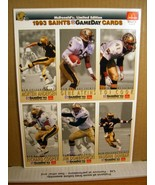 3 Sheet of Uncut 1993 Saints Gameday Cards McDonalds - $8.99