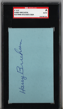 Harry Brecheen 3x5 Index Card Autograph SGC Authentic P539 - $16.40