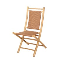 Heather Ann Creations Bamboo Folding Chairs with Diamond Weave Pack of 2... - $162.43