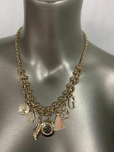 """Guess Charm Gold Color Necklace 17"""" + 2"""" New 412627Y-43 - $8.90"""