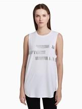 Calvin Klein Performance Logo Oversized Tank Top PF8T3088 White XS S M L XL - $22.00