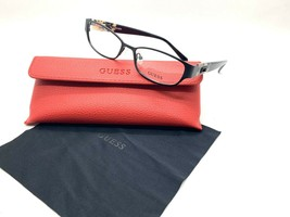 GUESS GU 2412 B84  Women's Eyeglasses Frames 52-16-135 Black + CASE - $29.07
