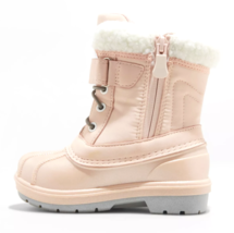 Cat & Jack Toddler Girls' Journey Pink Faux Fur Thermolite Winter Snow Boots NEW image 2