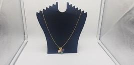 Vintage Avon Gold Tone Box Chain With Multi Color Clover Pendant Faux Di... - $19.32