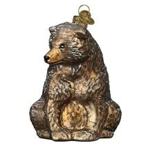 Vintage Inspired Bear Holiday Ornament Glass - $41.76