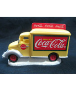 Coca-Cola Town Square Yellow Delivery Truck Christmas Village Holiday - $12.87