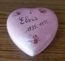 HEART SHAPED ELVIS 1935 TO 1977 CERAMIC TRINKET HOLDER - $9.99