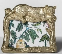 "New Opalhouse Panther Photo Frame Gold 4""x6"" Indo Boho Decorative - €8,62 EUR"