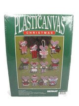 Bernat Christmas Holiday Mice Ornaments Plastic Canvas Kit - $29.69