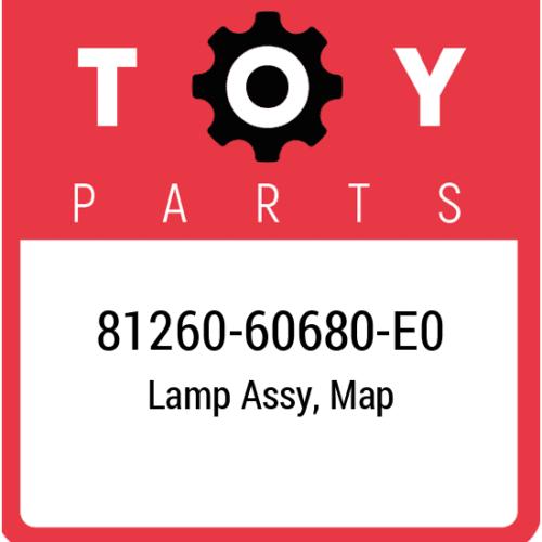 81260-60680-E0 Toyota Lamp Assy Map, New Genuine OEM Part