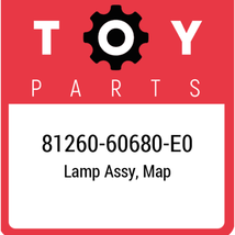 81260-60680-E0 Toyota Lamp Assy Map, New Genuine OEM Part - $195.83