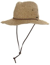 Pistil 2159P Men's Croft Paper Straw Sun Hat With Chin Strap and Wired Brim - $49.99