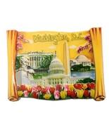 Scroll Shaped Washington DC Panaromic 3D National Mall Fridge Magnet- Wa... - $6.99