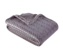 Berkshire Blanket® Ultra Velvetloft Jacquard Throw Blanket in Putty - $32.66