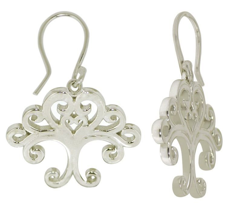 Stylish Shiny Tree Of Life 925 Sterling Silver Earring For Pretty Women SHER0239
