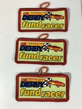 Boy Cub Scout Patch Pinewood Magazine Derby Fund Racer BSA Car Race Badg... - $5.00