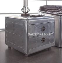 NauticalMart Aviator Square Coffee Table With 2 Drawer  - $999.00