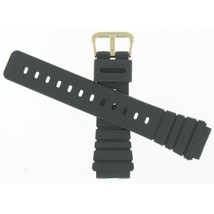 Casio 24mm Black Rubber Gold Tone Buckle Watch Band 70375327 Fits AQ100 ... - $18.00