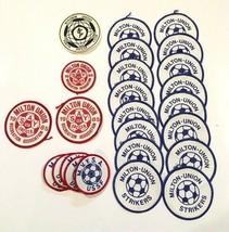 Vintage Old 1980s USA SAY USSF Rec Soccer Patch Lot Milton Union Striker... - $31.13