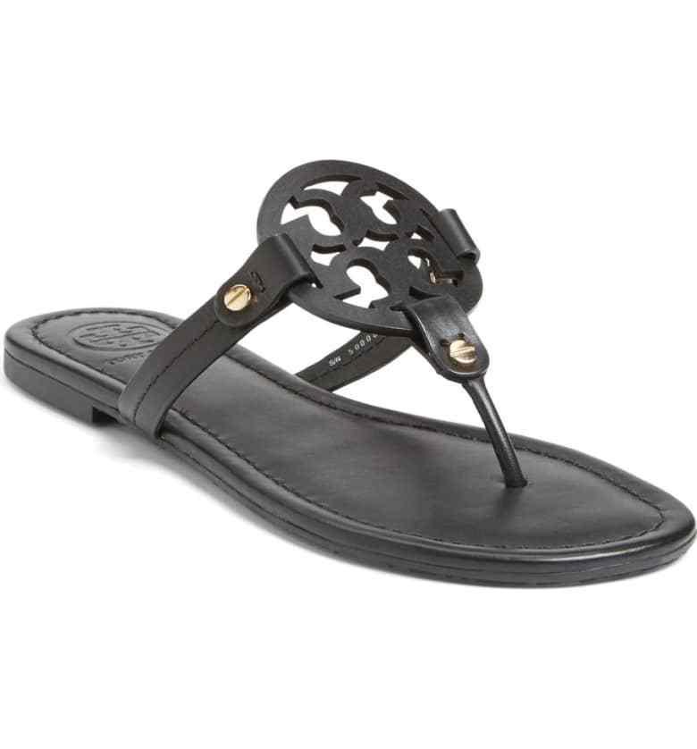 Tory Burch Miller Flat Medallion Sandals