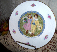 Royal Doulton Victorian Couple Valentine's Day Plate 1976 - $33.65