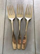 3! Meat Forks! Vintage Oneida Community Stainless Paul Revere - $24.75