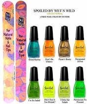 Wet N Wild Spoiled Nail Color Collection #5 Of 8 Shades Plus 2 Free Nail Files F - $19.59