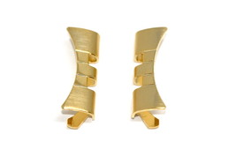18MM GOLD STAINLESS STEEL CURVED WATCH BAND LINK ENDS FITS JUBILEE - 2PC - $8.42