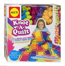 Craft Knot A Quilt Blanket Making Kit Kids Girls Create Throw Knotting G... - $31.67